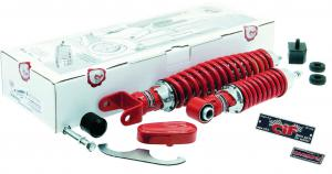 "Front and rear shock absorber kit "" Sport Tuning red"""
