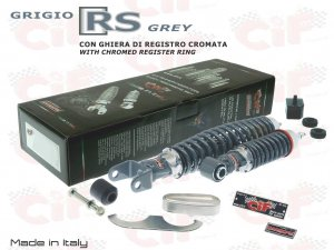 Front and rear shock absorbers kit gray RS for Vespa 50/90/125 Special-LR-Primavera
