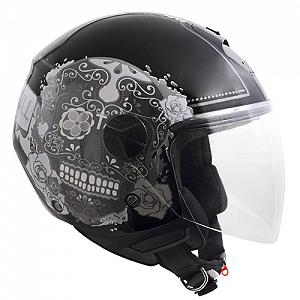 107S CANCUN metallic black jet helmet
