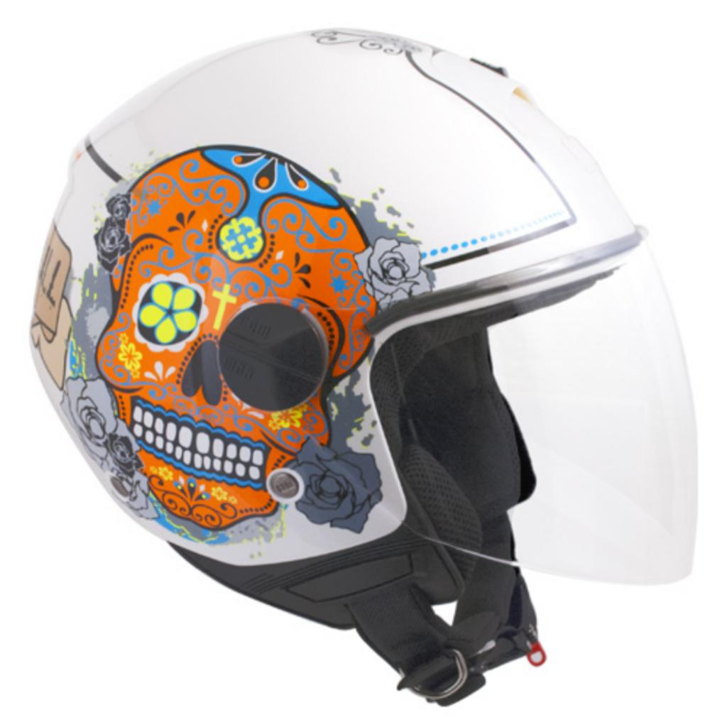 Casco jET 107S CANCUN metallic white jet helmet