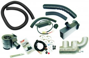 Complete heating kit (Leovince muffler) for Ape 50-Europe-MIX-Euro 2