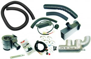 Complete heating kit (Polini muffler) for Ape 50-Europe-MIX-Euro 2