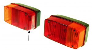 Pair of rear lights for Ape 50/220/400/500/600 TL Elestart-TM P50-P2-P401-P501-P601-P601V-MP-MPV