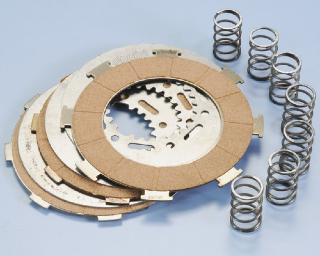 Clutch discs kit 4 discs 7 Polini springs for Vespa 200 Rally-PX-Cosa