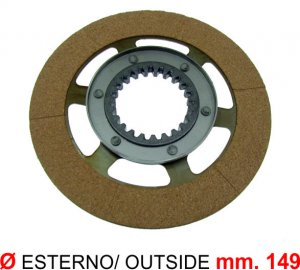 Clutch disc with cup (separate lubrication) for Ape 220 MP P602-P2-MPV P600-P601