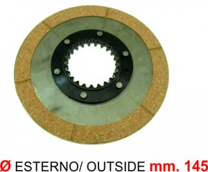 Clutch disc without cup for Ape 220 MP P501-P601-P601V-P2-P3