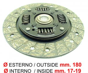 Clutch disc for Ape 1000 Porter (carburetor)
