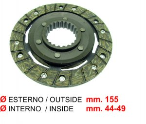 Clutch disc for Ape 420 P703-P703V-Max Diesel-Poker (petrol and diesel)