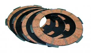 Clutch discs kit with reinforced spring (modification to 4 discs) for Ape 50