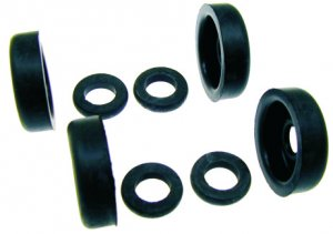 Rear brake cylinder overhaul rubber set (8pcs) for Ape 420 Poker (petrol and diesel)