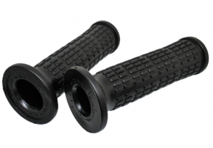 Pair of black rubber grips for Piaggio CIAO SI from '88 to '92