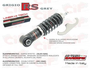 Front shock absorber carbon hi-tech gray RS for Vespa 50/90/125 Primavera ET3