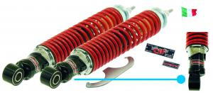 Pair of carbon adjustable shock absorbers