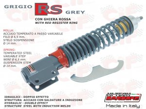 Front shock absorber SPORT version adjustable gray RS for Vespa 125/150/200 PX