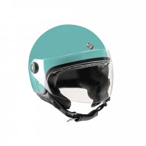 Black leather S-LINE S720 helmet