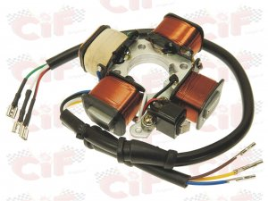 Complete stator for Piaggio Ciao-Bravo-SI (models with arrows)