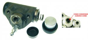 Rear brake cylinder with convex cone for Ape 50 1st series