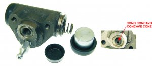 Rear brake cylinder with convex cone for Ape 50 P50-TM P50