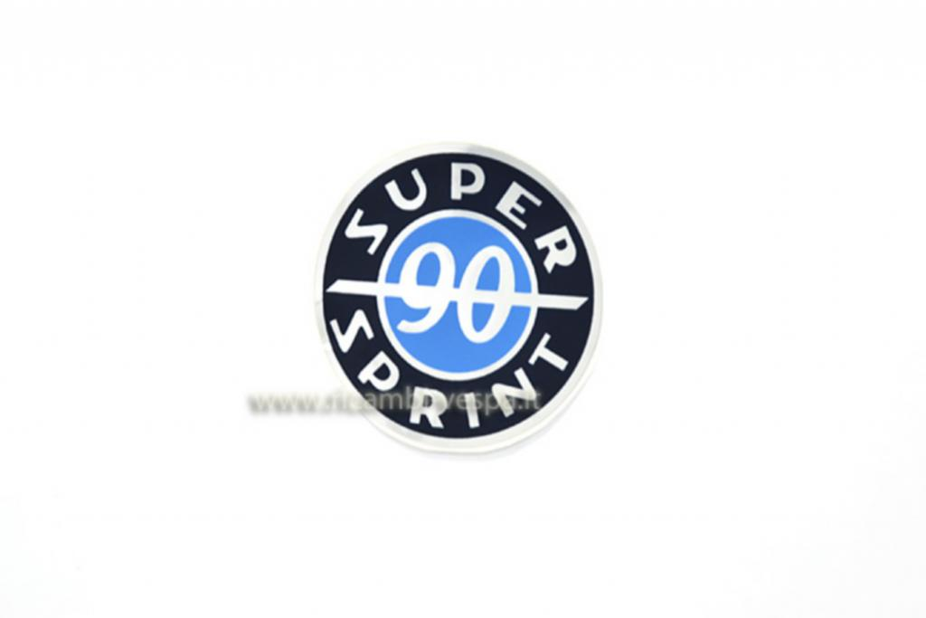 90 Super Spring blue round sticker for flat top case