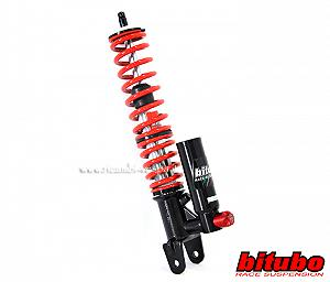 Nitrogen filled rear shock absorber with separate compensating reservoir