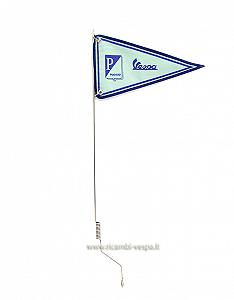 Adjustable flag pole with green flag