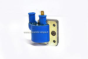 Blue external high voltage coil