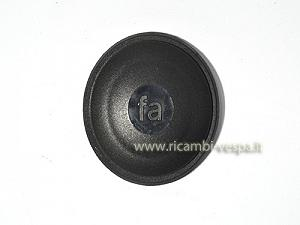 Black stud cover nut made of plastic
