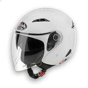 Open face Airoh City One helmet - White