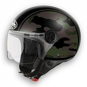 Open face Airoh Compact helmet - Army