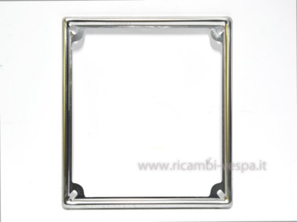 Chromed frame plate