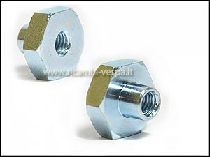 Zinc-plated wheel fastening nut (M8 with 22 key)