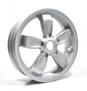 "Front wheel Piaggio silver gray 2.50-11 ""5 spokes for Vespa 50-125-150 Primavera 2 / 4T"