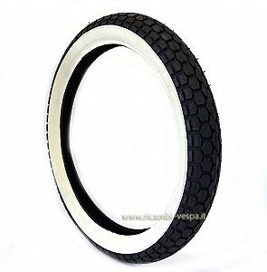 Continental tyre with white stripe MC 47J B (2 3/4-17)