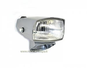 Complete grey headlamp unit