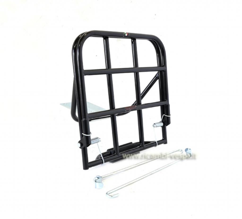 Black luggage carrier