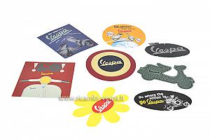Vespa stickers set