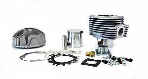 Polini complete cylinder kit (177cc) in aluminium with central and side sparkplug