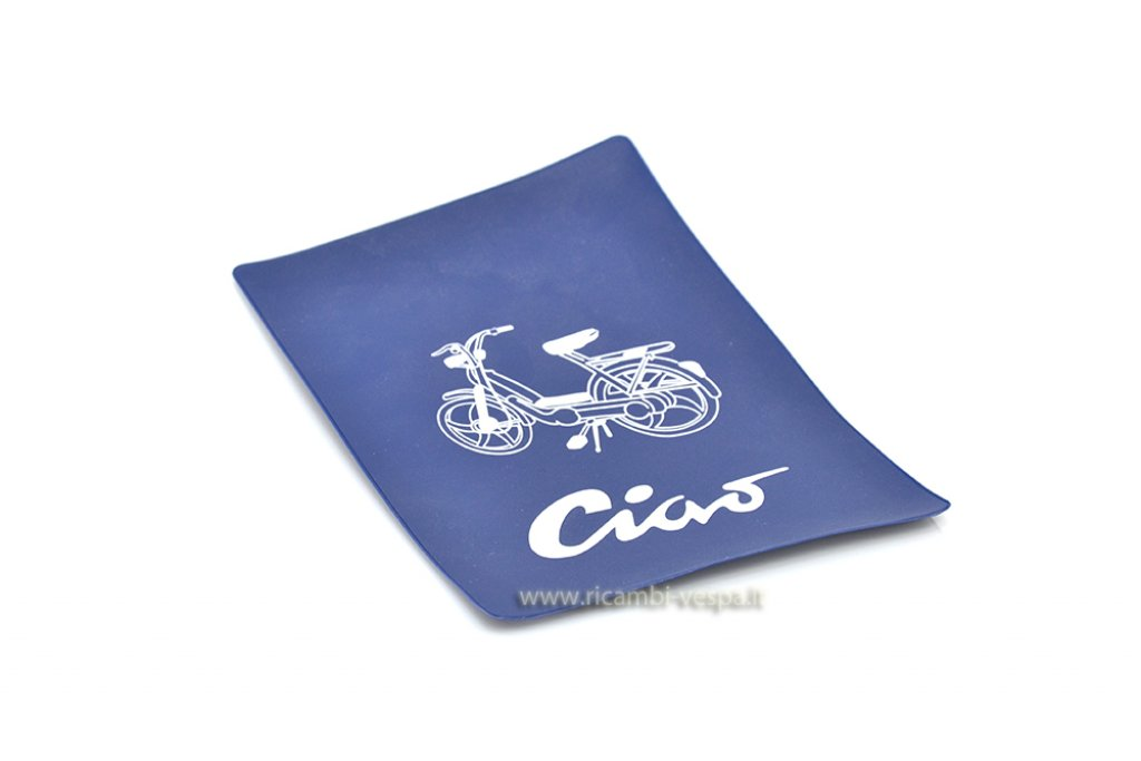 Blue document holder with screen printing for Piaggio Ciao