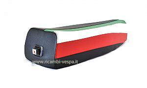 Full black saddle with Italian flag