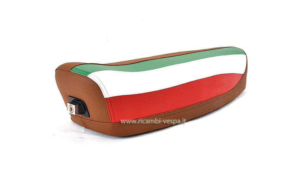 Brown complete saddle with Italian flag