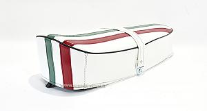 Compete white saddle with Italian flag