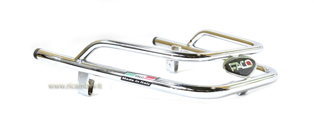 Chromed bumper for Vespa 125/150/200 PX PE