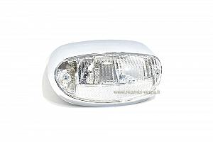 Chromium plated light unit with white lens
