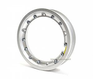 Gray painted aluminium disassemblable tubeless rim