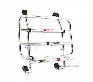 Front chrome plated luggage carrier