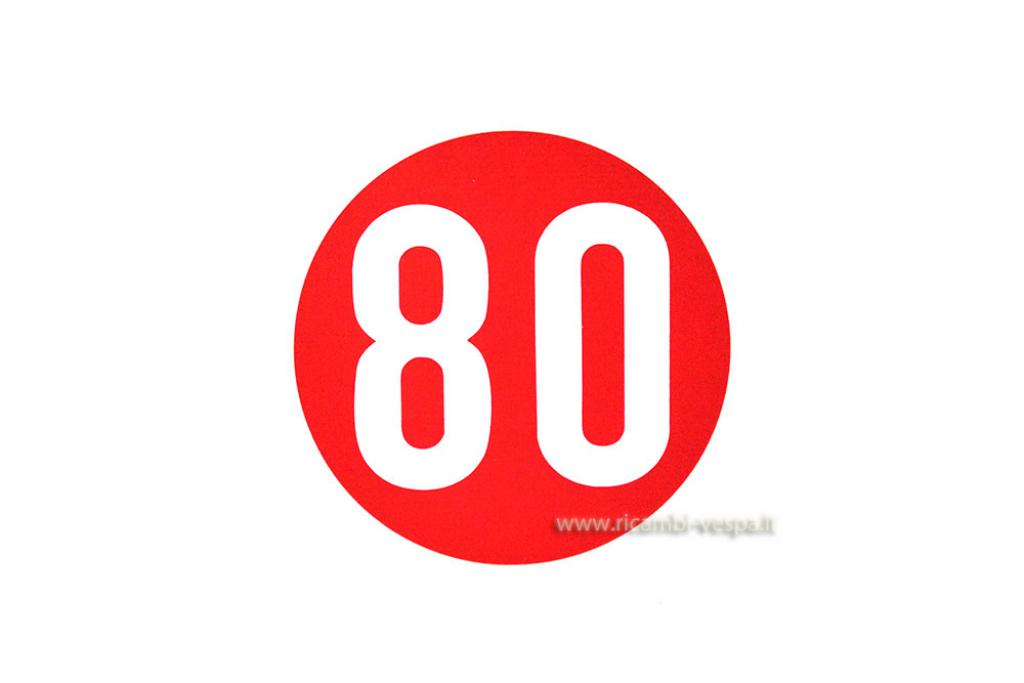 80 Km/h 60's vintage sticker