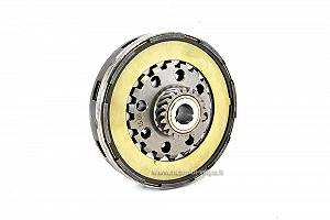 Complete assembled clutch with reinforcement ring