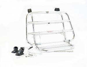 Chrome plated front luggage carrier