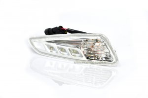 Piaggio front left indicator with LED daylight for Vespa 125/150 Sprint-Primavera with E13 mark