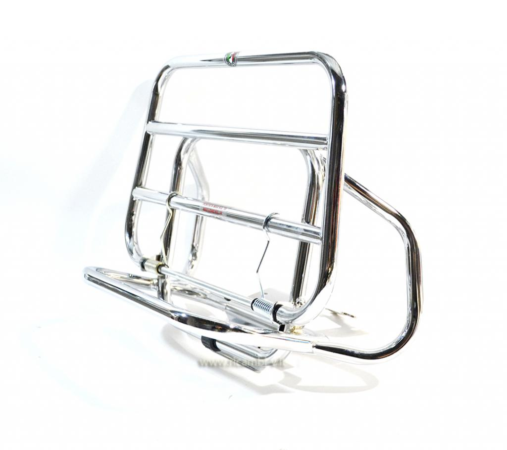 Chrome plated rear luggage carrier